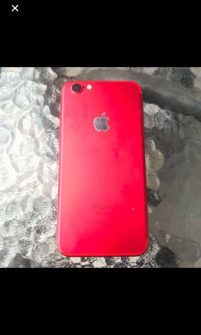 Iphone 6s ( housing iphone 7 Red )