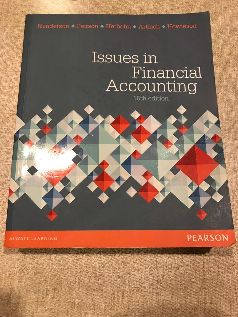 Issues in Financial Accounting 15th edition