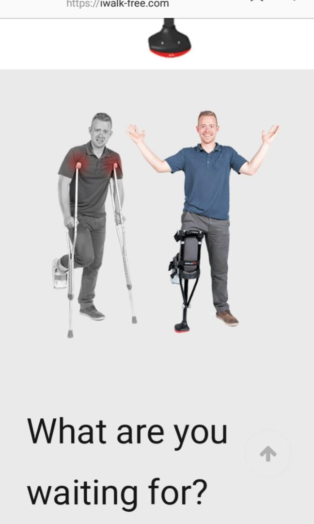 Iwalk2.0 crutches and knee made in U.S.A