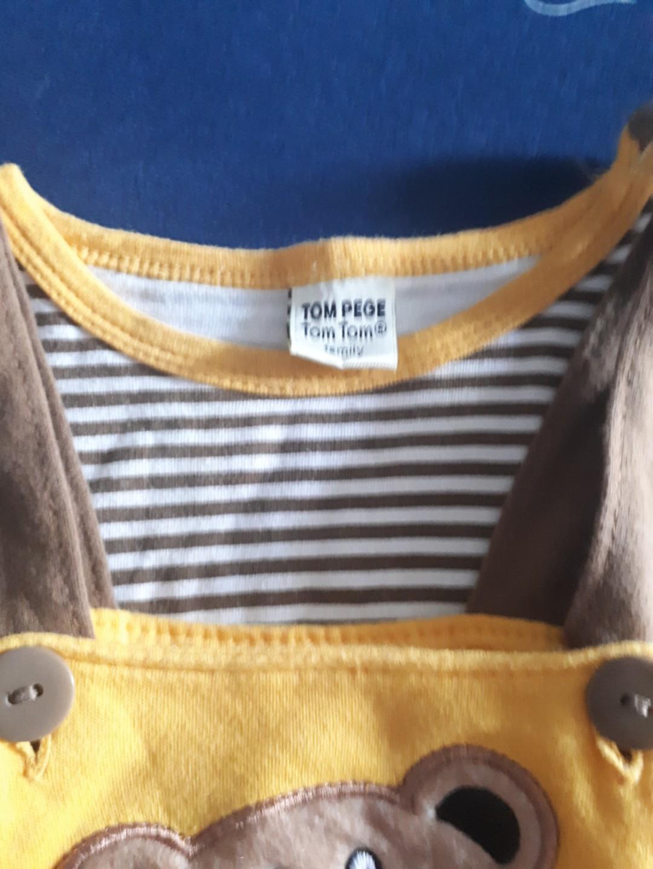 Tom pege jumper baby kuning coklat