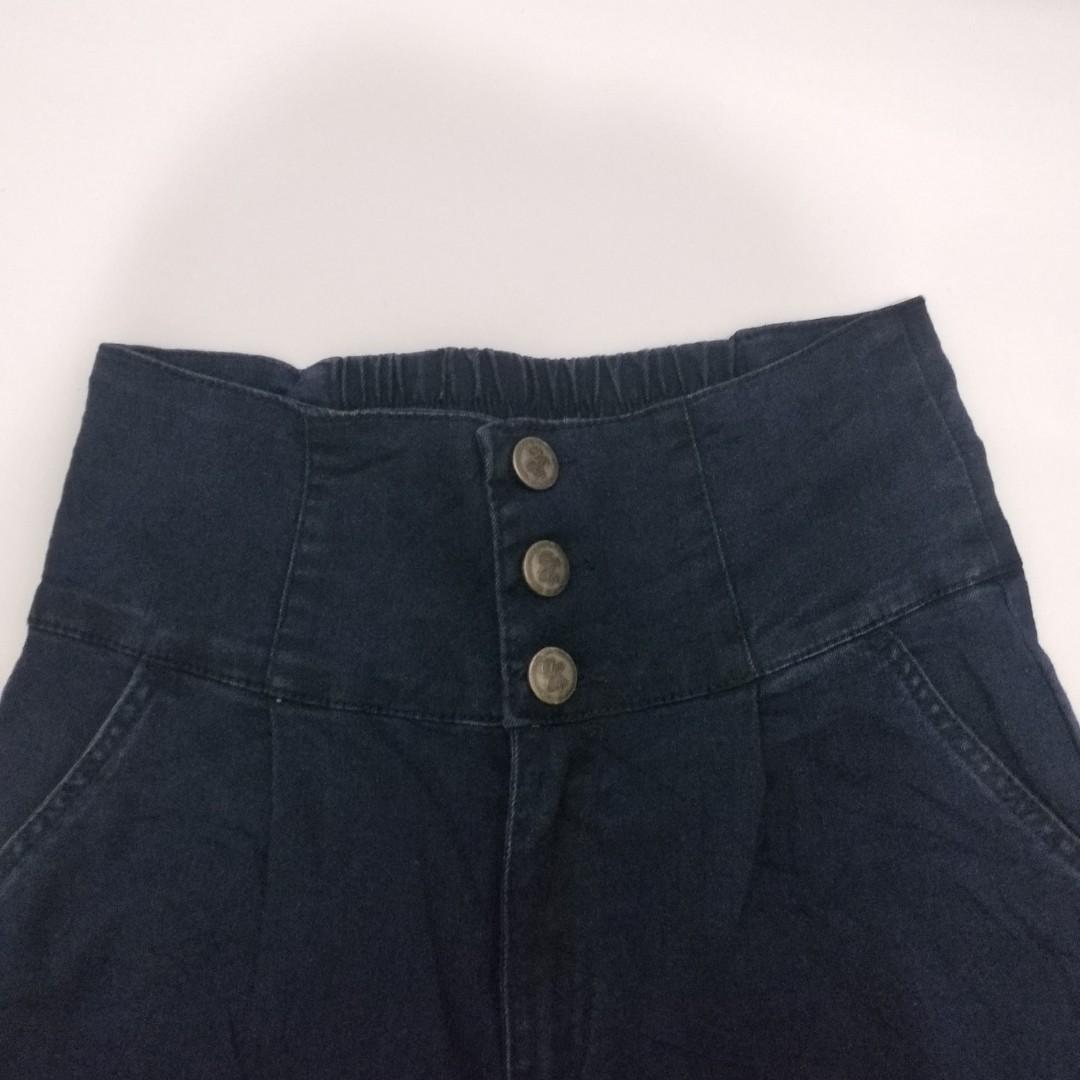 celana kulot high waist jeans