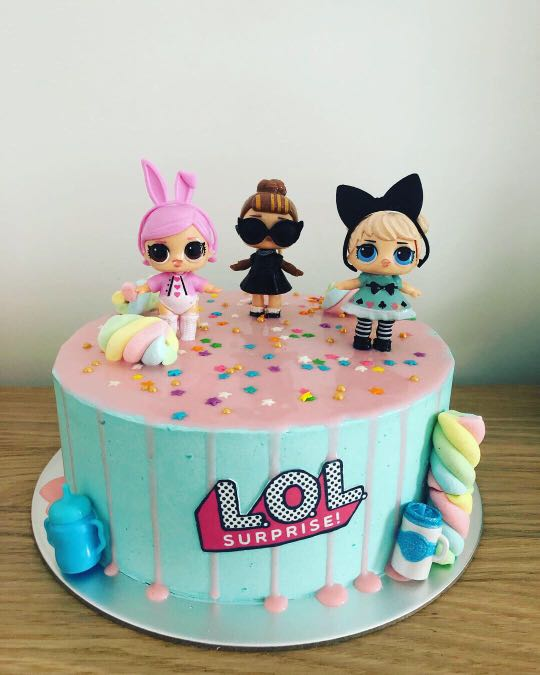 Lol Surprise Theme Cake Food Drinks Baked Goods On Carousell
