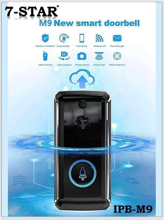 M9 Smart Wireless Doorbell IP Cam - Smart Video Doorbell, WiFi Video  Doorbell Camera, Security Video Doorbell IP Camera,PIR Motion Detection,  Built-in