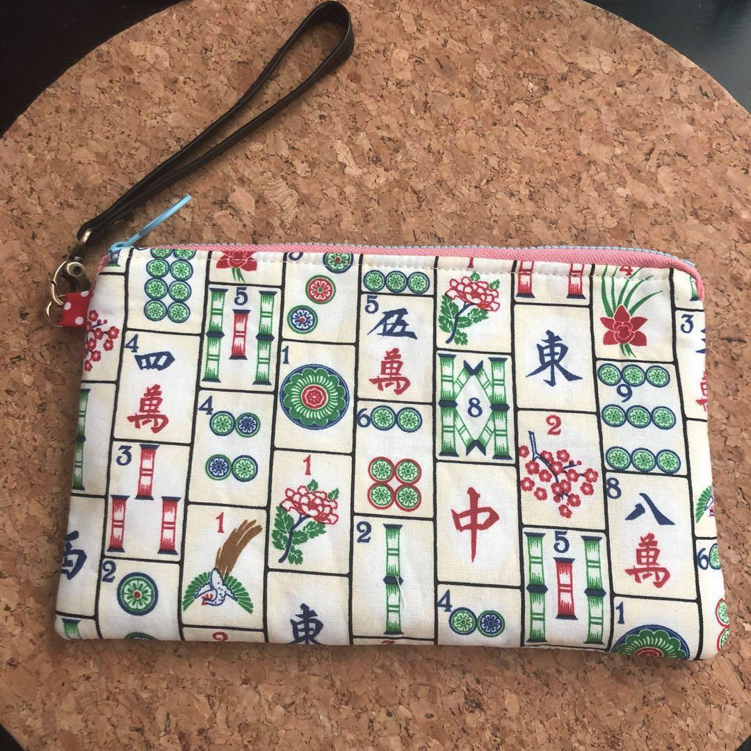 picture regarding Mahjong Card Printable identified as Mahjong Tiles Print Pouch/Wristlet, Womens Design and style, Baggage