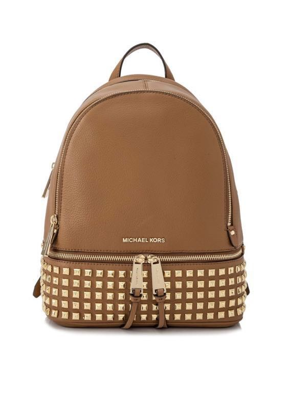 4072ae3b37b4 Michael Kors Rhea Zip Medium Studded Backpack, Women's Fashion, Bags ...