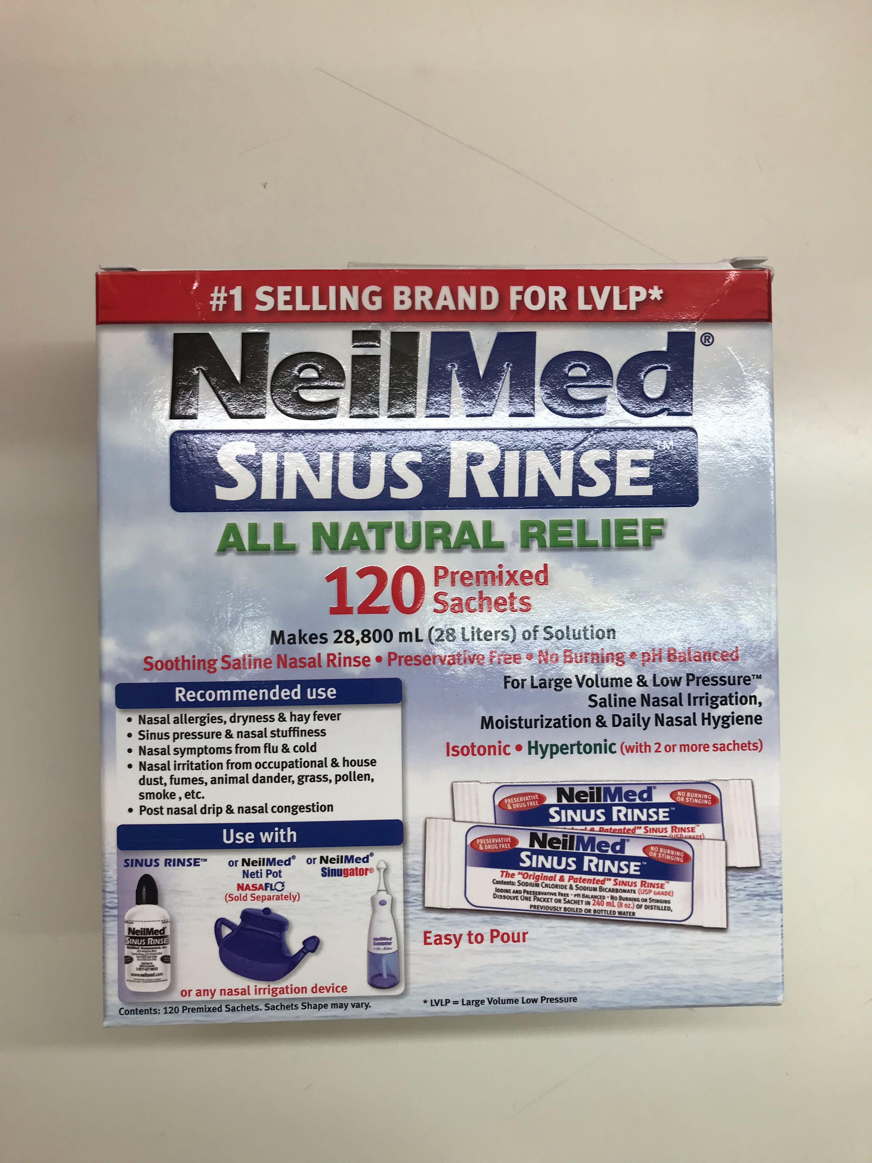 Neilmed Sinus Rinse Premixed Sachets 120s