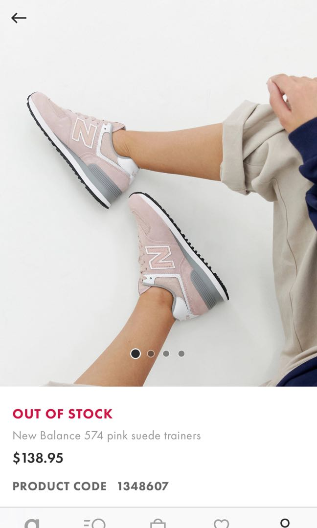 outlet store 6a57a 51409 New balance 574 Pink Suede Trainers
