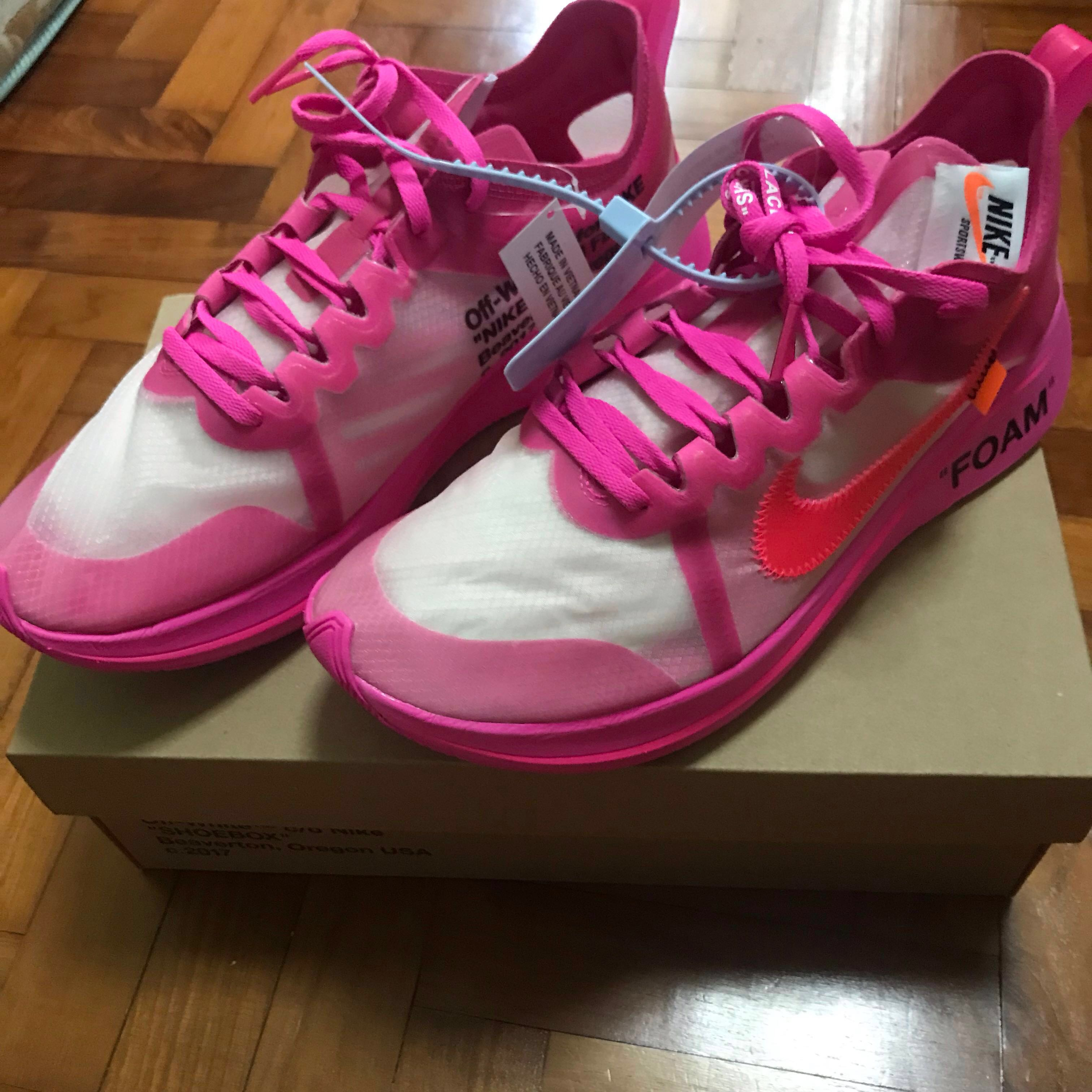 ccf5cdaaeb94 Off-White X Nike Zoomfly Tulip Pink