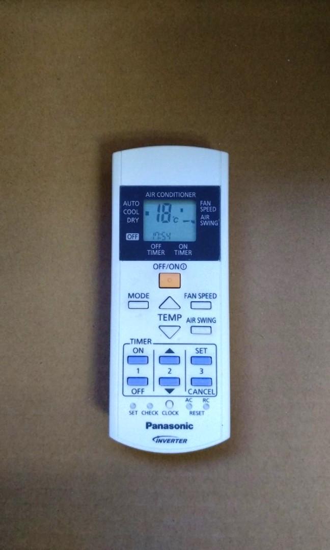 Remote control for Panasonic air-con