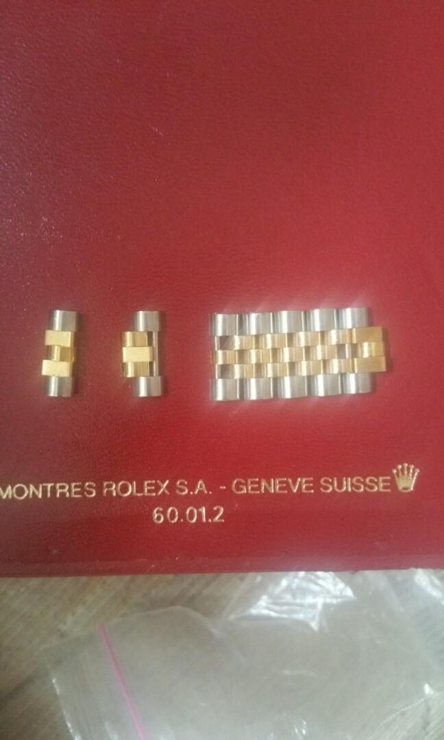 Rolex jubilee 18k half gold spare link sold 2 balance 5