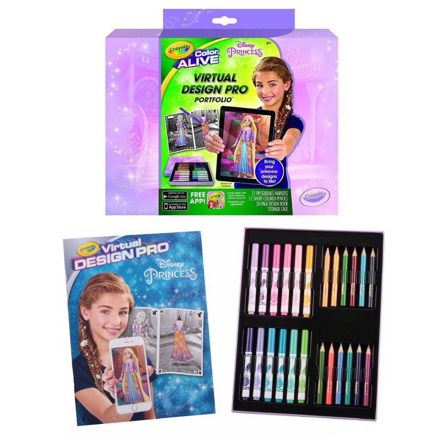 Sale Brand New Brand New Crayola Color Alive Disney Princess Virtual Design Pro Portfolio Toys Games Others On Carousell