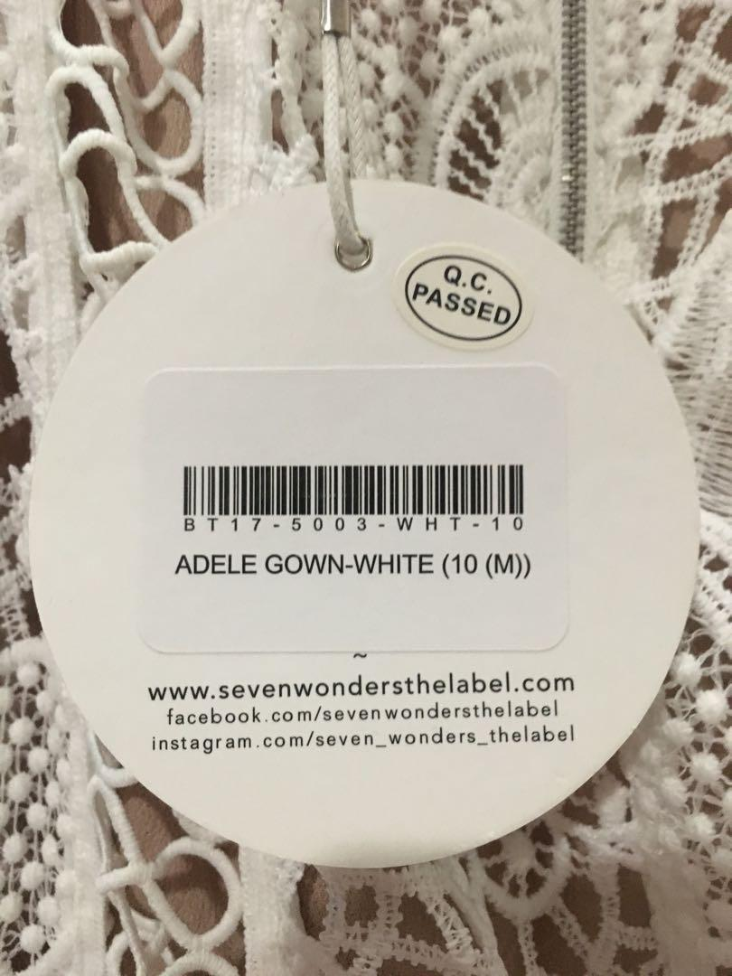 Seven Wonders The Label, Adele gown, Size 10, New with tags.