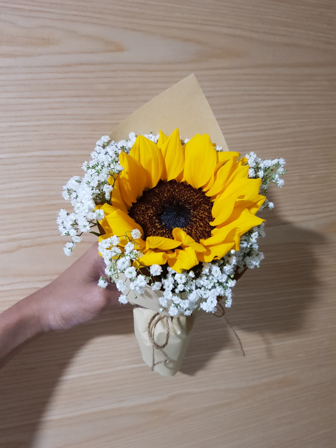 Single Sunflower Bouquet Gardening Flowers Bouquets On Carousell