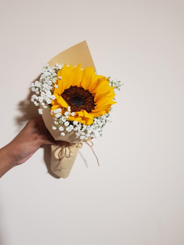 Single Sunflower Bouquet