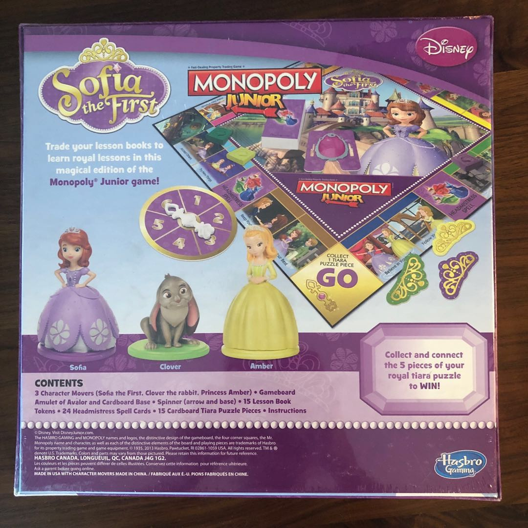 Sofia the First Monopoly Board Game