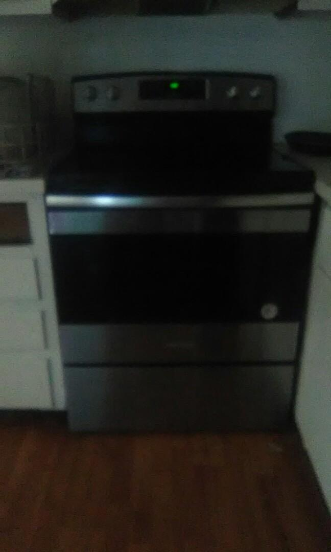 Stainless Steel Stove and Fridge