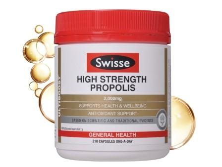Swisse - 高濃渡蜂膠膠囊high strength propolis 2,000毫克 210粒澳洲代購平行進口2021年到期