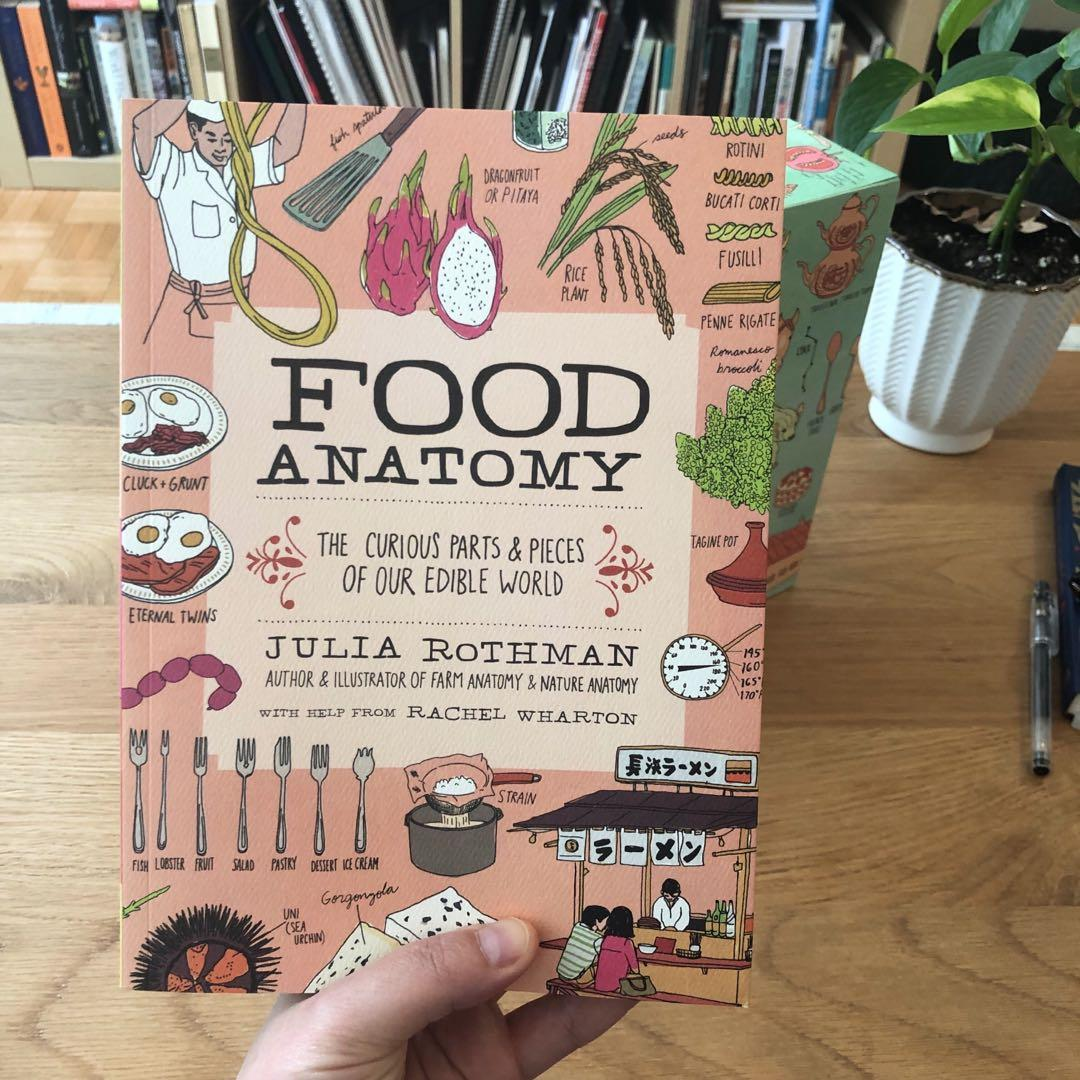 The Julia Rothman Collection: farm anatomy, nature anatomy, and food anatomy.