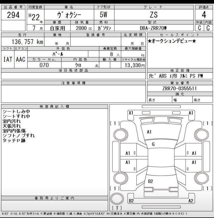 TOYOTA VOXY 尾期10 2010