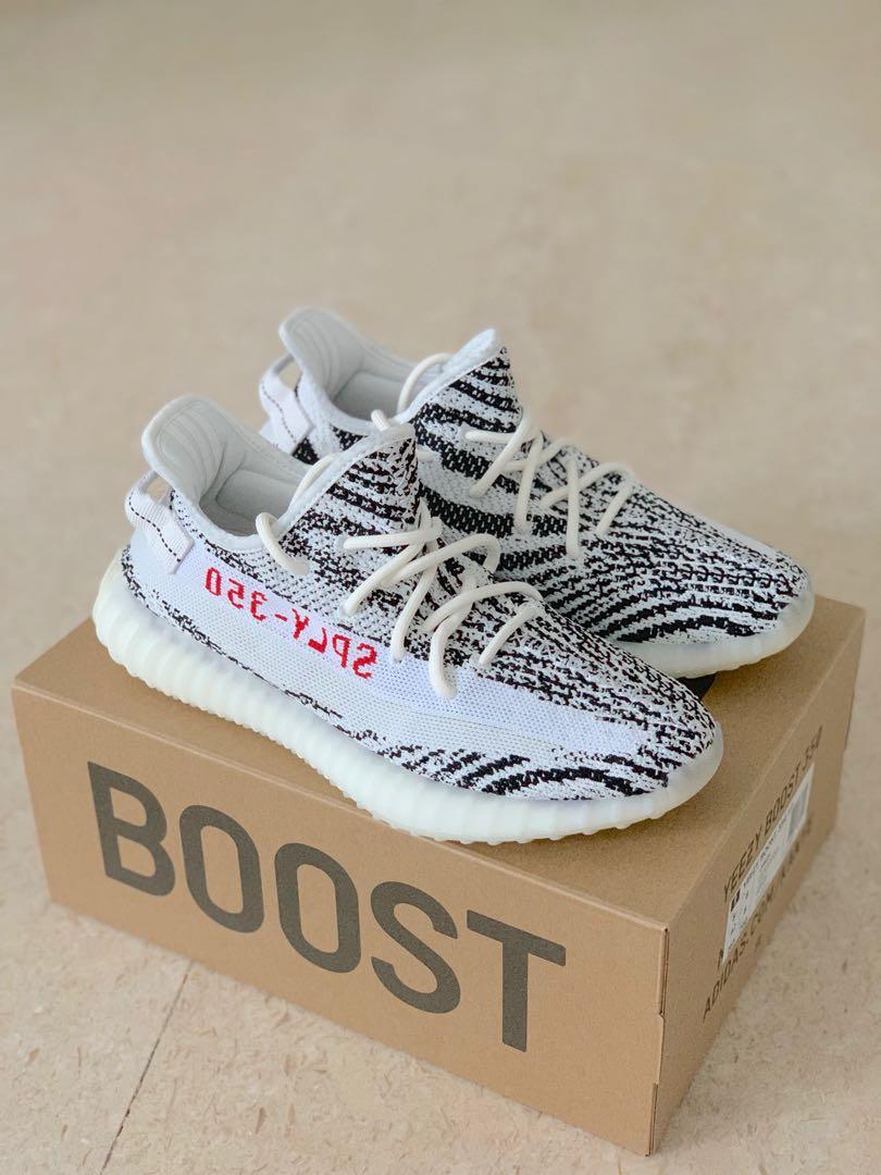 82a35d36775f2 UK8 Adidas Yeezy Boost 350 V2 Zebra