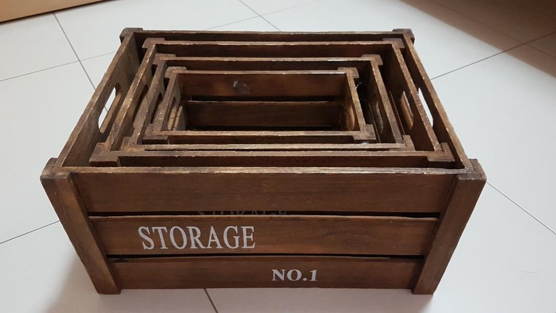 Vintage Wooden Crate Boxes Everything Else On Carousell