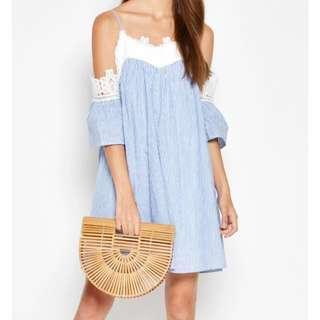🚚 Love and Bravery Aulia Dropshoulder Lace Dress