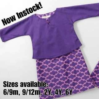 BN 6m, 1y, 2y, 6y Purple Baju Kurung Hana