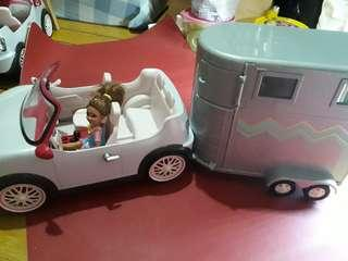Lori Convertible Car with FM Radio comes with Horse Trailer can be with Chelsea Dolls