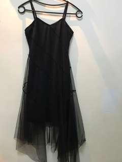 女黑紡紗上衣