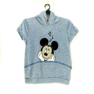 6f8f00d0a Mickey Mouse Cartoon Logo Hoodie Sweater Sweatshirt Pullover with Loose Big  Pocket, Top Rabbit Ears