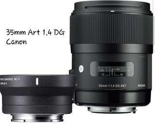 🚚 Sigma 35mm art 1.4 DG Canon