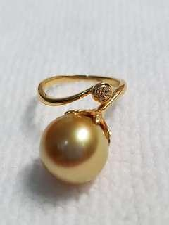 Premium Quality Golden South Sea Pearl ring