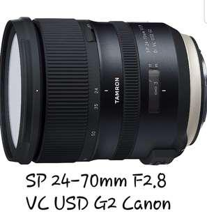 🚚 Tamron SP 24-70mm 2.8 VC USD G2 CANON