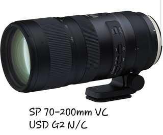 🚚 Tamron SP 70-200mm VC USD G2 N/C