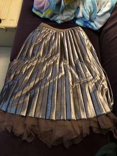啡色雙面紗裙