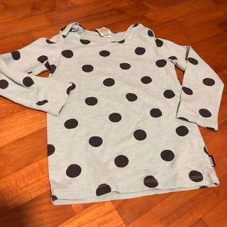 🚚 2T NEW Bonds polka dot long sleeved top toddler