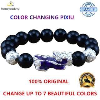 Silver Color Changing Pixiu Bracelet Temperature Gelang Pi Xiu