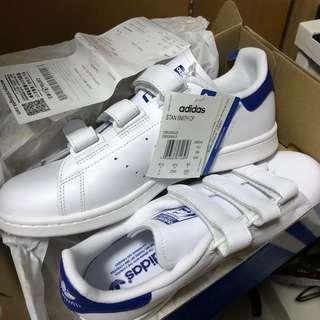 Adidas Stan Smith 魔術貼 藍色