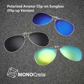 Polarized Aviator Clip-on Sunglass (Flip up version)