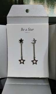 銀色星星耳環