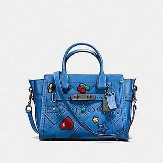 COACH SWAGGER 27 WITH EMBELLISHED CANYON QUILT  ( COACH F55503 )