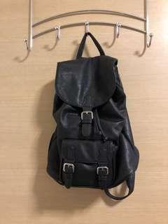 PULL AND BAG black backpack
