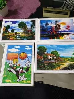 Jigsaw puzzle. Rm20 for 4 boxes. 300 pieces