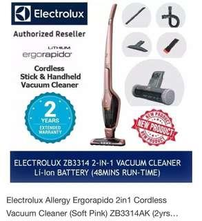 2-in-1 Allergy Ergorapido® Cordless Stick Vacuum Cleaner