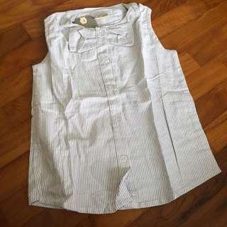 🚚 4T NEW Striped khaki top toddler