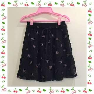 蝴蝶結雪紡短裙