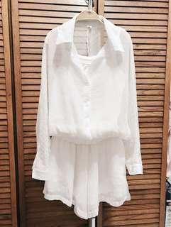 清新氣質純白兩件式套裝