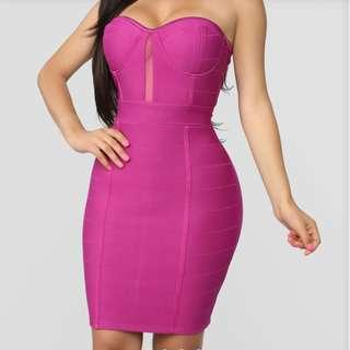 Fuschia bodycon dress