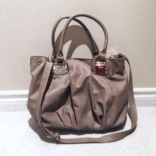 Aldo Taupe Tote Bag With Optional Crossbody Strap