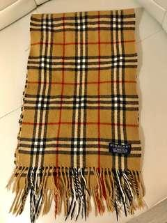 Authentic Vintage Burberry Novacheck Beige Lambswool Scarf